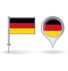 German pin icon and map pointer flag vector image