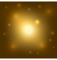 Gold background Light burst vector image