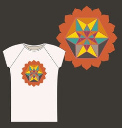 Star Tetrahedron logo design for a t shirt vector image vector image