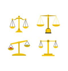 balance icon set flat style vector image