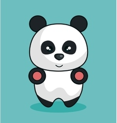 bear panda stuffed icon vector image