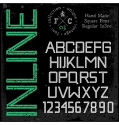 Handmade retro font vector image vector image