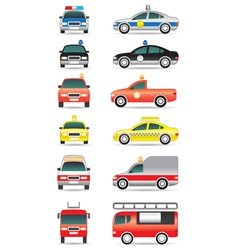 Special purpose cars vector image vector image