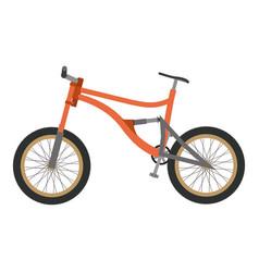 bike mountain downhill orange flat icon bicycle vector image vector image