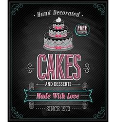 cake chalkboard vector image