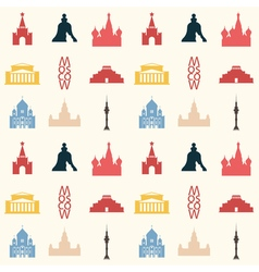 Moscow pattern colored vector
