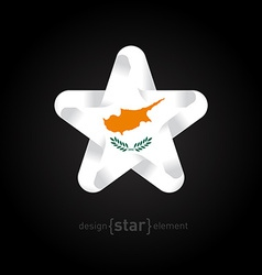 star with Cyprus flag colors and symbols vector image vector image
