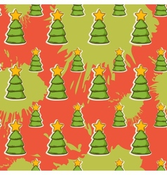 abstract with Christmas tree pattern vector image vector image