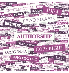 AUTHORSHIP vector image