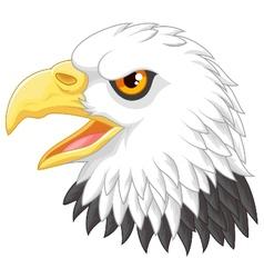 Eagle head mascot cartoon vector image