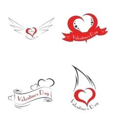 Happy Valentine s Day logo vector image