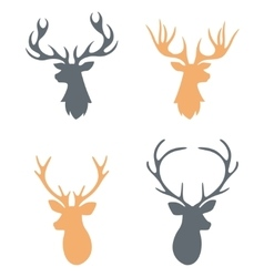 Hipster Hand drawn vintage label with a reindeer vector image