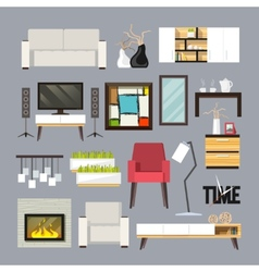 Living Room Furniture Set vector image