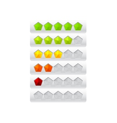 rating from color pentagons vector image