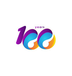 100 years anniversary celebration number template vector