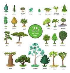 25 Diversity of trees set vector