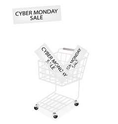 A Shopping Cart on Cyber Monday Banner vector image