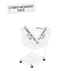 A Shopping Cart on Cyber Monday Banner vector