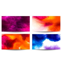 Abstract Watercolor Background Set vector
