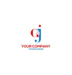 Aj feather writer logo design vector