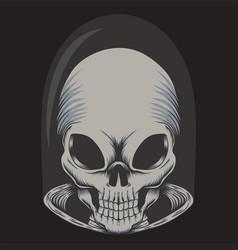 Alien skull vector