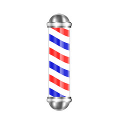 Barbershop pole isolated vector