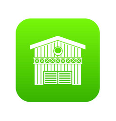 barn for animals icon digital green vector image