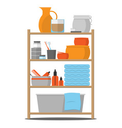 Bathroom shelf vector