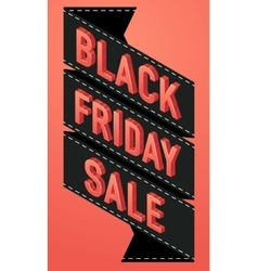 Black friday sale banner sign Isometric vector