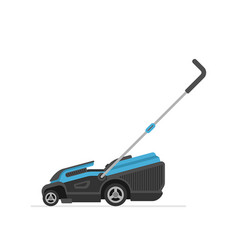 Blue lawn mower vector