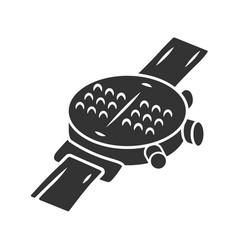 Braille smartwatch glyph icon dot watch wrist vector