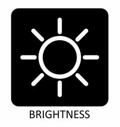 brightness sun icon vector image