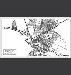 bujumbura burundi city map in retro style outline vector image