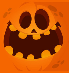 cartoon jack lantern face vector image
