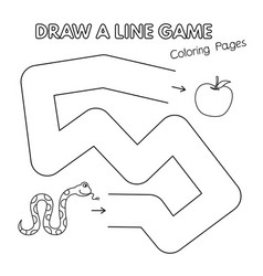 cartoon snake coloring book game for kids vector image