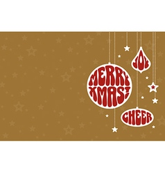 Christmas background with funky ornaments vector