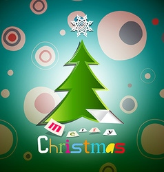 Christmas Card Xmas with Tree vector image