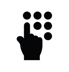 Click hand icon black icon vector
