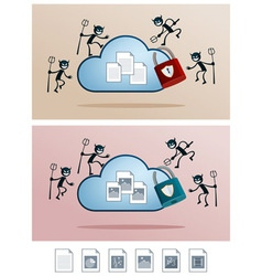 Cloud storage attacked by computer virus vector