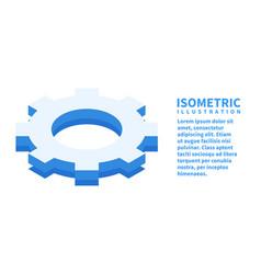 Cogwheel settings icon isometric template vector