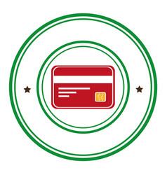 Credit card money icon vector