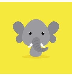 Cute Cartoon Wild elephant vector image