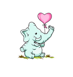 Cute elephant design vector