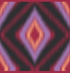 Diamond ikat fuzzy blurry seamless pattern swatch vector