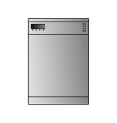 dishwasher wide vector image