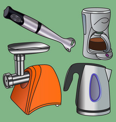 Domestic electric appliance vector