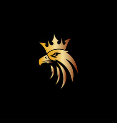 eagle head king logo mascot vector image