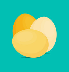 eggs flat icon chicken egg breakfast vector image