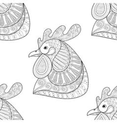 Entangle cartoon rooster vector