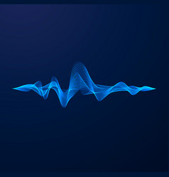 equalizer vizualisation sound wave energy vector image